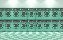 Laundromat Clean Royalty Free Stock Photography