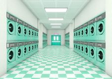 Laundromat Clean Royalty Free Stock Photos