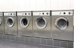 Laundromat coin laundry Royalty Free Stock Photo
