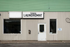 Laundromat Old, Run-Down Exterior Stock Photo