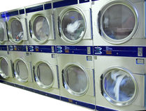 Laundromat Pay Dryers Royalty Free Stock Images