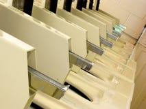 Laundromat row of washers royalty free stock photo
