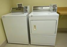 Laundromat Washer and Dryer. Laundromat washing machine and dryer royalty free stock photography