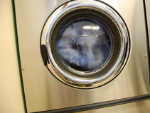 Laundromat washing machine Stock Photo