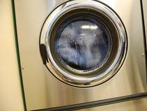 Laundromat washing machine stock photo