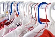 Daily Laundry. Toddler's clothes hang in the laundry room....a never ending supply royalty free stock photography