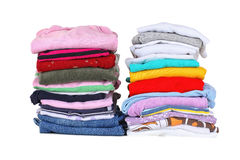 Laundry. Basket with laundry and ironing board stock photo