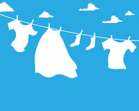 Laundry advert Royalty Free Stock Images