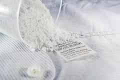 Laundry advice clothing tag. Stock Photo