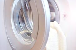 Laundry background. Door of launder machine. Laundry background. Open door of launder machine stock photography