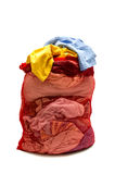Laundry Bag Stuffed Full Of Clothes Stock Photography