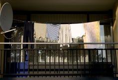 Laundry on Balcony Royalty Free Stock Photography