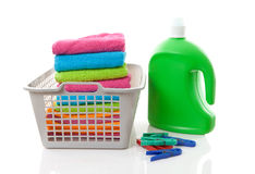 Laundry basket Stock Images
