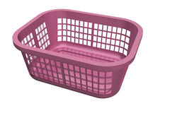 Laundry Basket. Pink laundry basket isolated on white background stock illustration