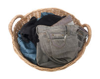 Laundry in a basket Royalty Free Stock Images