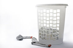 Laundry basket. With dirty clothes Stock Photos