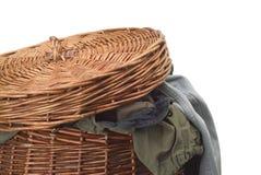 Laundry basket. On white background Royalty Free Stock Photo
