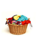Laundry basket Stock Image