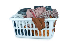 Laundry basket (Clip Path) Royalty Free Stock Images