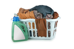 Laundry basket (Clip Path) Stock Photography