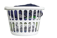 Laundry Basket with Clothes Royalty Free Stock Photo