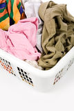 Laundry basket and dirty clothing Royalty Free Stock Images