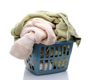 A Laundry Basket Full of Towels Royalty Free Stock Photography
