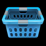 Laundry basket. Isolated on black. 10 eps vector illustration