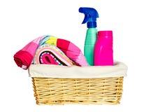 Laundry basket.Isolated. Royalty Free Stock Images