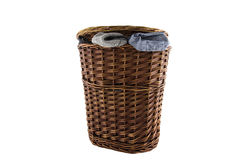 Laundry basket Royalty Free Stock Images