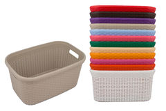 Laundry basket. Basket with laundry isolated on white background Stock Photo