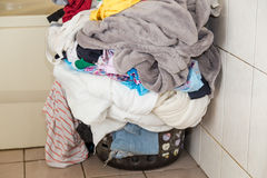 Laundry in basket Stock Photo
