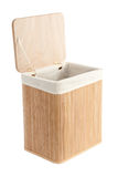 Laundry basket made of bamboo Stock Photography