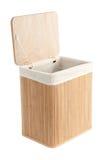 Laundry Basket Made Of Bamboo Stock Photography