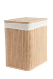 Laundry Basket Made Of Bamboo Stock Photo