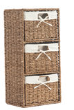 Laundry basket made of rattan Stock Photography