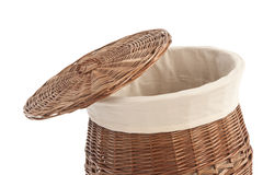Laundry basket made of rattan Royalty Free Stock Photo