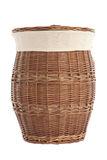 Laundry basket made of rattan Royalty Free Stock Images