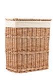 Laundry basket made of rattan Stock Photos