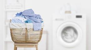 Free Laundry Basket On Blurred Background Of Modern Washing Machine Royalty Free Stock Photo - 166563135