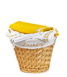 Laundry Basket with towel Stock Image
