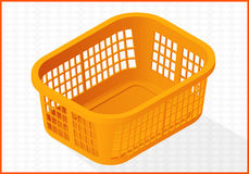 Laundry basket vector 3d illustration. Laundry basket icon isometric perspective view flat vector 3d illustration Stock Photos