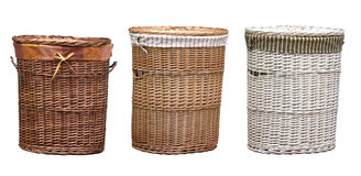 Laundry Baskets Clipping Path Stock Image