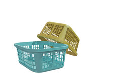Laundry baskets. Isolated on white background Royalty Free Stock Images