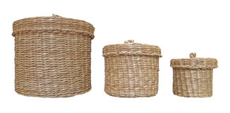 Laundry baskets isolated Royalty Free Stock Photos