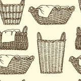 Laundry baskets pattern Stock Photography