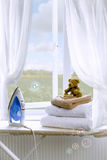 Laundry With Bubbles Stock Photo