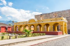 Laundry building in the streets of Antigua Guatemala. Building of laundry in the streets of Antigua Guatemala royalty free stock image