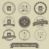 Laundry business vintage label Royalty Free Stock Photography