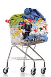 Laundry cart. Isolated Royalty Free Stock Images